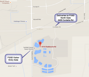 Site Map with FSSD Site Entry Gates