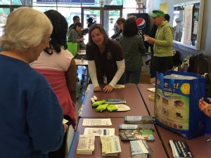 Meg at the Solano Community College for an Outreach Event