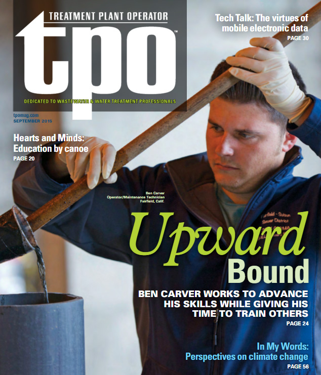 Ben Carver Featured on Treatment Plant Operator Article