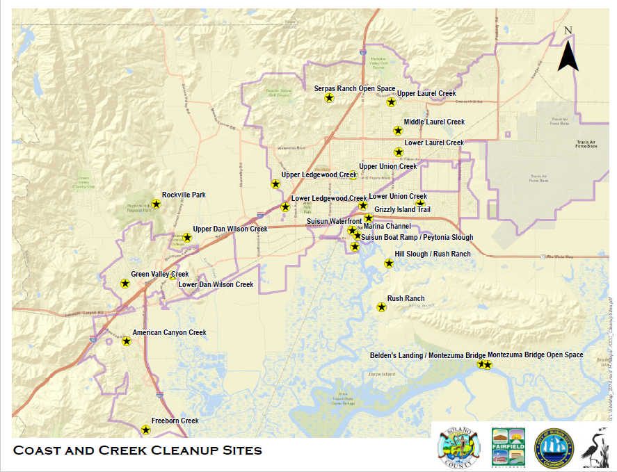 Coast and Creek Cleanup Sites