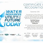Certificate of Recognition Utility of the Future 2016