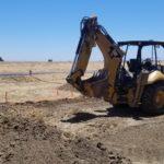 WWTP Project Backhoe