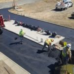 New paving at the WWTP