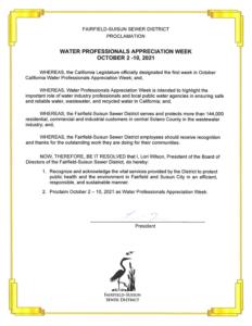 Proclamation – Water Professionals Appreciation Week sm